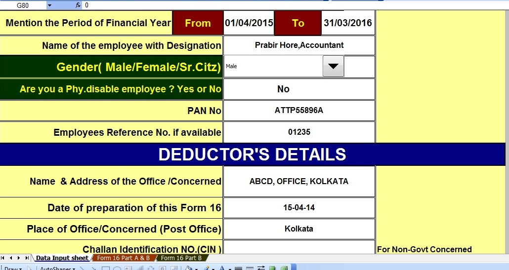Amended Form 16 Part B for F.Y 2015-16 - tdstaxindia.net