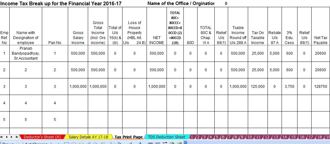 Income Tax Form 16 Part B for F Y 2016-17 – Page 3 – tdstaxindia net