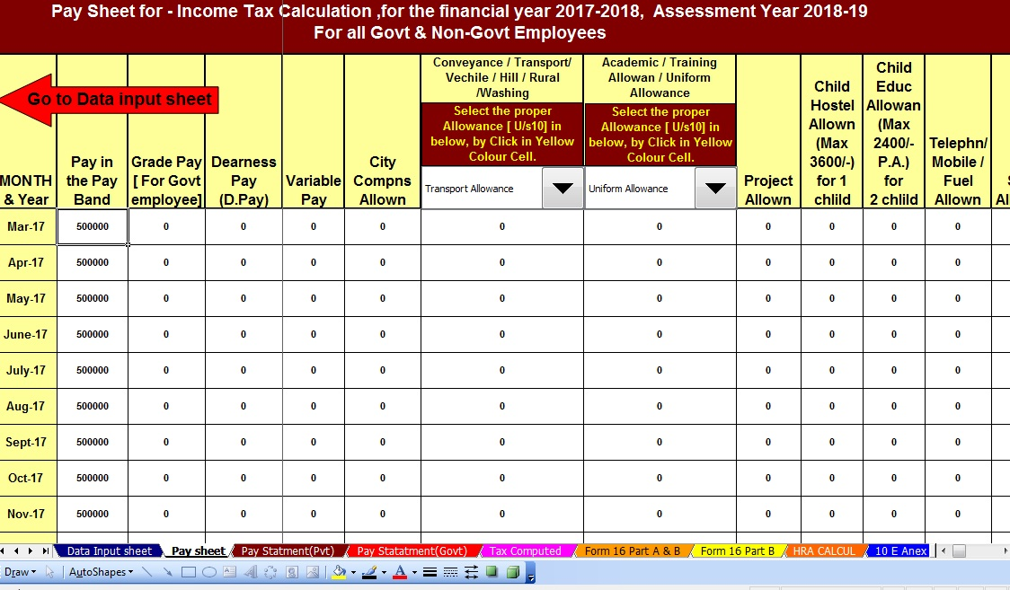 Income Tax Calculator for F Y 2017-18 – tdstaxindia net